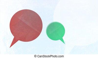 Random Textured Speech Bubbles - Looping Animation of Random...