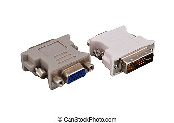 vga adapters - two vga adapters on a white background
