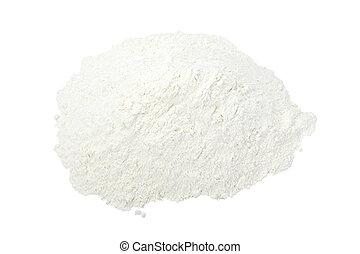 baking food ingrediant flour powder - close up of white...