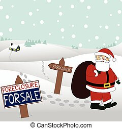 Santas workshop is for sale - Even Santa is having financial...