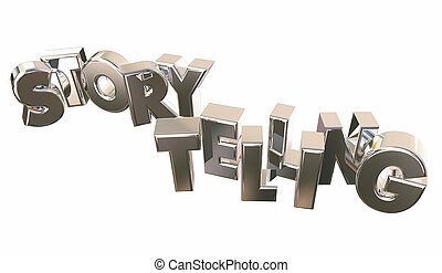 Storytelling Word Share Information Communicate 3d...