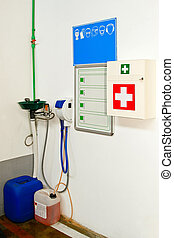 First Aid Station - First Aid Kit for medical emergency in...
