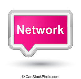 Network prime pink banner button - Network isolated on prime...