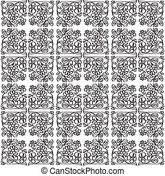 Illustration of pattern with flowe