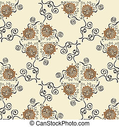 Illustration of pattern with flower