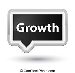 Growth prime black banner button - Growth isolated on prime...