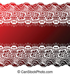 lace background - red - white lace background