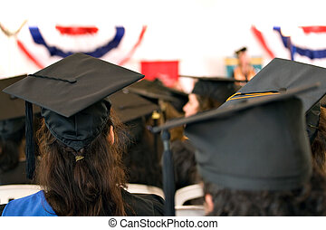 Group of Seated Graduates - A group of college or high...