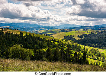 beautiful countryside landscape in mountains - beautiful...