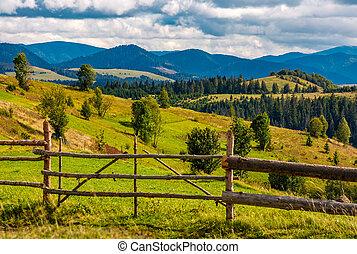 rural fields on hills in mountainous area - rural fields...