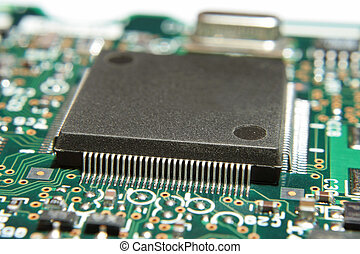 Microprocessor. - Electronic board, a computer hard disk....