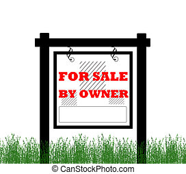 Home for sale by owner sign