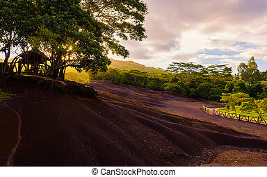 Chamarel seven coloured earths panorama - Chamarel seven...