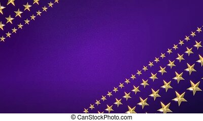 Looping Stars on Royal Purple HD - Looping Animation of Gold...