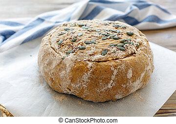 Billet dough for baking pumpkin bread. - Billet dough for...