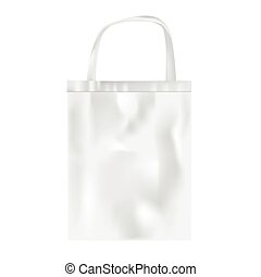 Plastic bag on white background, vector