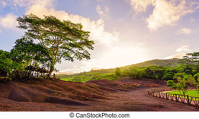 Chamarel natural park at mauritius - Chamarel seven coloured...
