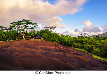 Chamarel seven coloured earths landscape - Chamarel seven...