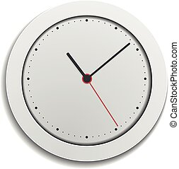 simple modern clock - detailed illustration of a simple...