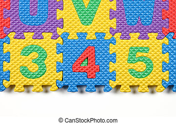 close up of Number puzzles