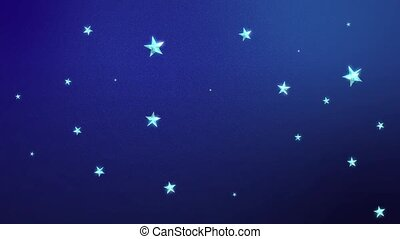 Looping Stars on Midnight Blue HD - Looping Animation of...