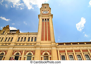 Estacao da Luz - The famous train station Estacao da Luz in...