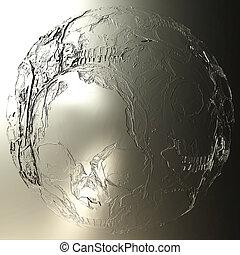 Digital 3D Illustration of a mystic female Eye