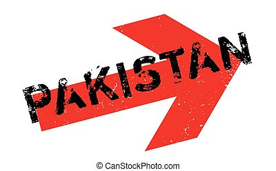 Pakistan rubber stamp. Grunge design with dust scratches....
