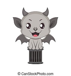 Cute little gargoyle illustration