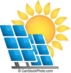 Solar panels alternative energy source vector