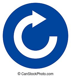 reload blue circle icon - Illustration of reload blue circle...