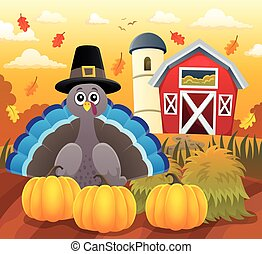 Thanksgiving turkey topic image 3 - eps10 vector...