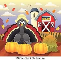 Thanksgiving turkey topic image 4 - eps10 vector...