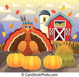 Thanksgiving turkey topic image 5 - eps10 vector...