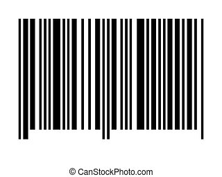 Empty Barcode - An empty barcode against a white background