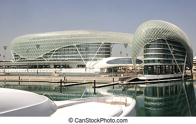 Yas Marina Hotel - Yas Marina hotel and the adjacent marina...