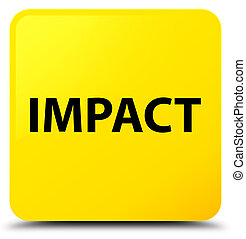 Impact yellow square button - Impact isolated on yellow...