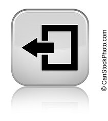 Logout icon special white square button - Logout icon...