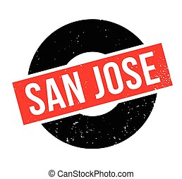 San Jose rubber stamp. Grunge design with dust scratches....