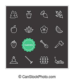 Set of Garden Vector Illustration Elements can be used as Logo or Icon in premium quality
