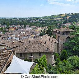 Castell'Arquato (Piacenza, Italy), historic city -...