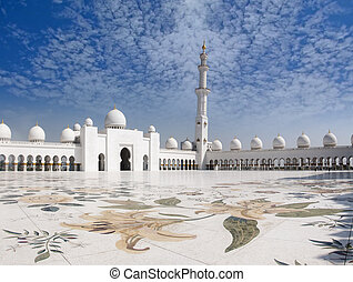 Sheikh Zayed Mosque and Veranda - Sheikh Zayed Mosque with a...