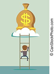 ladder to a money cloud.