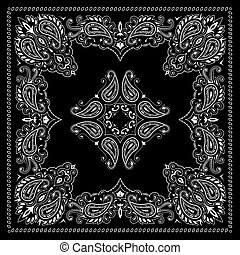 Symmetry bandana ornament - Symmetrical bandana decorative...