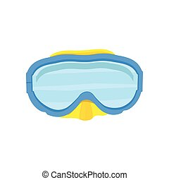Diving mask vector - Vector illustration blue diving mask...