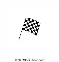 Racing flag icon - Vector illustration auto racing flag...