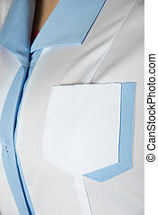 doctors smock closeup of woman nurse