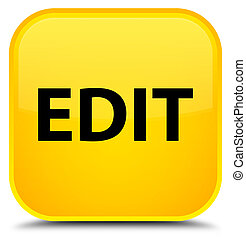 Edit special yellow square button - Edit isolated on special...