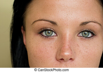 Spectacular eyes - Close up of beautiful girl with amazing...