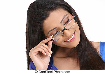 woman  with spectacles